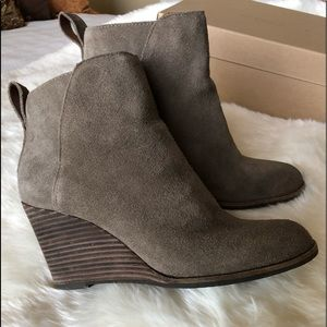 Lucky brand Suede booties.